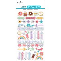 "Paper House Life Organized Epoxy Stickers 6.5""X3.5"" NOTM498618"