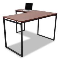 Linea Italia Seven Series L-Shaped Desk, 59 x 47 1/4 x 29 1/2, Cherry LITSV751CH