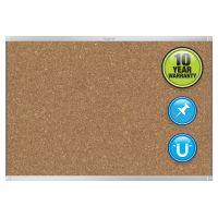 Quartet Prestige 2 Magnetic Cork Bulletin Board, 48 x 36, Aluminum Frame QRTMC244AP2