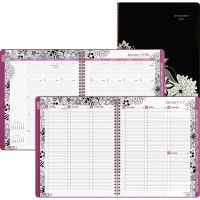 AT-A-GLANCE Floradoodle Professional Weekly/Monthly Planner, 9 3/8 x 11 3/8, 2018-2019 AAG589905