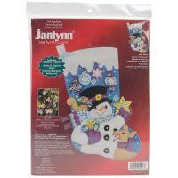 Frosty's Favorite Ornament Stocking Felt Applique Kit NOTM285740
