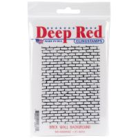 """Deep Red Cling Stamp 3""""X4"""" NOTM455171"""