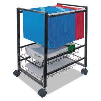 Advantus Mobile File Cart w/Sliding Baskets, 12 7/8w x 15d x 21 1/8h, Black AVT34075