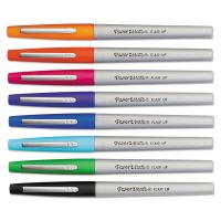 Paper Mate Flair Porous Point Stick Liquid Pen, Assorted Ink, Ultra Fine, 8/St PAP1927694