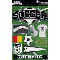 Real Sports Dimensional Cardstock Stickers NOTM082257