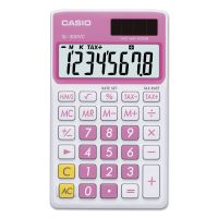 Casio SL-300VCPK Handheld Calculator, 8-Digit LCD, Pink CSOSL300VCPK