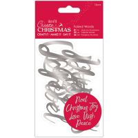 Papermania Create Christmas Foiled Words Stickers NOTM278994