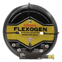 Gilmour Eight-Ply Flexogen 10 Series Garden Hose, 3/4in x 50ft, Gray GLM10034050