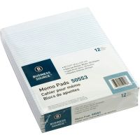 Business Source Glued Top Ruled Memo Pads - Letter BSN50553