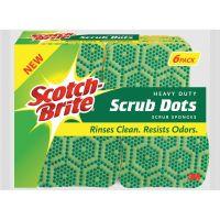 Scotch-Brite Scrub Dots Heavy-duty Scrub Sponge MMM303064