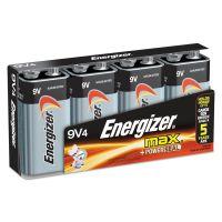 Energizer MAX Alkaline Batteries, 9V, 4 Batteries/Pack EVE522FP4