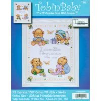 Baby Bears Birth Record Counted Cross Stitch Kit NOTM371301