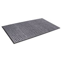 Crown Tire-Track Scraper Mat, Needlepunch Polypropylene/Vinyl,36 x 60,Gray CWNTE0035GY