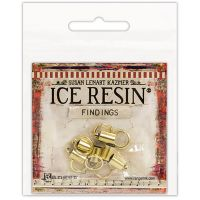 Ice Resin Findings (6) End Caps & (6) Jump Rings 7mm NOTM078399