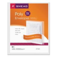 Smead Poly String & Button Booklet Envelope, 11 5/8 x 9 3/4 x 1 1/4, Clear, 5/Pack SMD89521