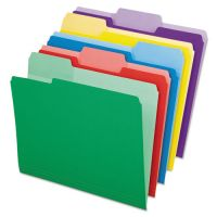 Pendaflex File Folders with Erasable Tabs, 1/3 Cut Top Tab, Letter, Assorted, 30/Pack PFX84370