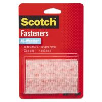 "Scotch Hook and Loop Fastener Tape, 1"" x 3"", two sets, Clear MMMRFD7090"