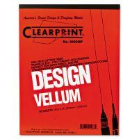 Clearprint Design Vellum Paper, 16lb, White, 8-1/2 x 11, 50 Sheets/Pad CLE10001410
