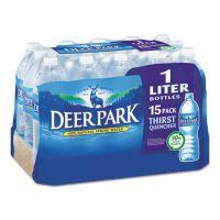 Deer Park Natural Spring Water, 1 Liter Bottle, 15 Bottles/Carton NLE828474