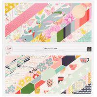 Pink Paislee Single-Sided Paper Pad 36/Pkg NOTM098643