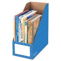 Bankers Box Cardboard Magazine File, 6 1/4 x 12 1/4 x 13, Blue, 3/PK FEL3380801