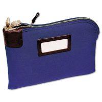 MMF Industries Seven-Pin Security/Night Deposit Bag, Two Keys, Cotton Duck, 11 x 8 1/2, Blue MMF2330881W08