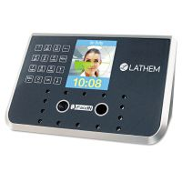 Lathem Time Face Recognition Time Clock System. 500 Employees, Gray, 7-1/4 x 3-1/2 x 5-1/4 LTHFR650KIT