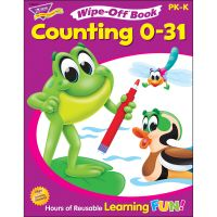 Trend Counting 0 to 31 Wipe-off Book Learning Printed Book TEP94215