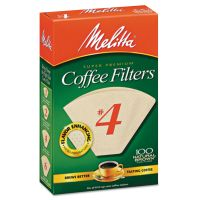 Melitta Coffee Filters, Natural Brown Paper, Cone Style, 8 to 12 Cups, 1200/Carton MLA624602