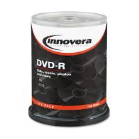 Innovera DVD-R Discs, 4.7GB, 16x, Spindle, Silver, 100/Pack IVR46890