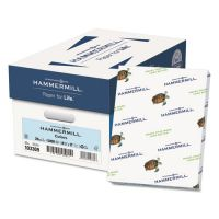 Hammermill Recycled Colored Paper, 20 lb, 8 1/2 x 11, Blue, 500 Sheets/Ream HAM103309