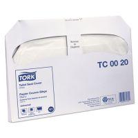 """Tork Toilet Seat Cover, 14.5"""" x 17"""", White, 20/Carton SCATC0020"""