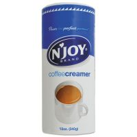N'Joy Non-Dairy Coffee Creamer, Original, 12 oz Canister, 3/Pack NJO94255