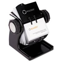 Rolodex Wood Tones Open Rotary Business Card File Holds 400 2 5/8 x 4 Cards, Black ROL1734238