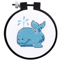 Learn-A-Craft The Whale Stamped Cross Stitch Kit NOTM237931