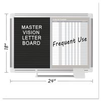 MasterVision In-Out and Notice Board, 24x18, Silver Frame BVCGA0287830