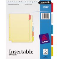 Avery Insertable Tab Index Dividers AVE81000