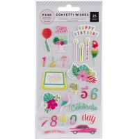 Confetti Wishes Puffy Stickers NOTM366010