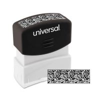 Universal Security Stamp, Obscures Area 9/16 x 1 11/16, Black UNV10136