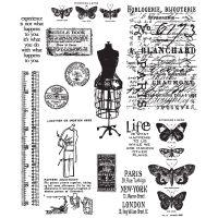 "Tim Holtz Cling Rubber Stamp Set 7""X8.5"" NOTM215565"