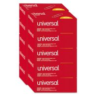 Universal Smooth Paper Clips, Wire, Jumbo, Silver, 100/Box, 10 Boxes/Pack UNV72220