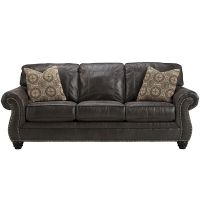 Flash Furniture Benchcraft Breville Sofa in Charcoal Faux Leather FHFFBC8009SOCHGG