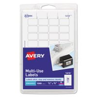 Avery Removable Multi-Use Labels, 1/2 x 3/4, White, 1008/Pack AVE05418