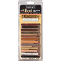 General's Multi Pastel Compressed Chalk Sticks NOTM130356