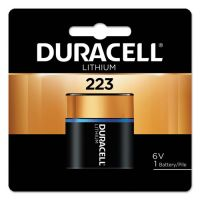 Duracell Ultra High Power Lithium Battery, 223, 6V, 1/EA DURDL223ABPK