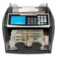 Royal Sovereign Electric Bill Counter w/Counterfeit Detection, 900-1400 Bills/Min, Black/Silver RSIRBC4500