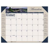 House of Doolittle Recycled Motivational Photographic Monthly Desk Pad Calendar, 22 x 17 HOD175
