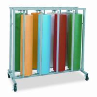 Pacon Mobile Vertical Rack for Paper Rolls, Eight Pockets, 48 1/2w x 25d x 48h PAC67791