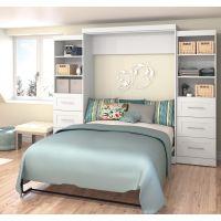 "Bestar Pur by Bestar 115"" Queen Wall bed kit in White BESBES2688417"