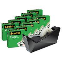 "Scotch Magic Tape Designer Dispenser Value Pack, Facet Design, 3/4""x1000"", 10 Rolls/PK MMM810K10C17MB"